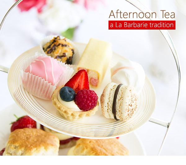 Afternoon tea - A La Barbarie tradition.