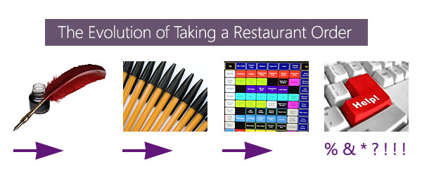 The evolution of taking a restaurant order.